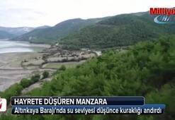Türkiyenin en büyük 5. barajında hayrete düşüren manzara