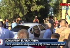 Ailesini katleden adam jandarma ile çatışmaya girdi