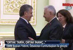 TBMM Başkanı Binali Yıldırım Özbekistan Cumhurbaşkanı ile görüştü