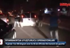 Diyarbakırda poşet poşet ele geçirildi