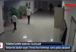 Bir okulu 5 ayda 5 kez soyan hırsızlar yakayı ele verdi