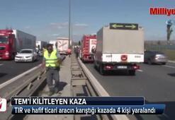 TEM trafiğini kilitleyen kaza