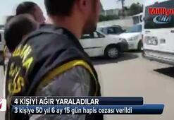 3 kişiye 50 yıl 6 ay 15 gün hapis cezası