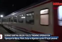 İstanbuldan gelen yolcu treninden 57 kaçak çıktı