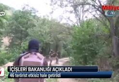 46 terörist etkisiz hale getirildi