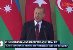 Cumhurbaşkanı Erdoğandan Azerbaycanda önemli mesajlar
