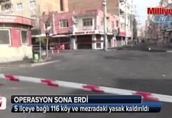 Diyarbakır kırsalında operasyon sona erdi