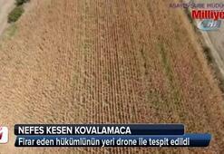 Çanakkalede drone ile nefes kesen kovalamaca