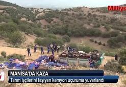 Tarım işçilerini taşıyan kamyon uçuruma yuvarlandı