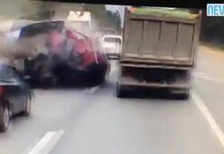 Korkunç kaza Paramparça etti