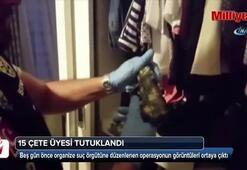 Sarallar ile bağlantılı gruba operasyon: 15 kişi tutuklandı