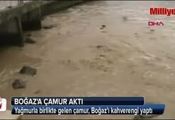 Boğaza çamur aktı