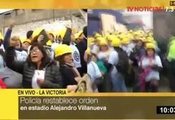 Peruda taraftarlar ile dini grup arasında çatışma çıktı