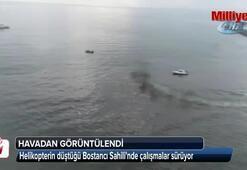 Bostancı Sahilindeki çalışmalar havadan görüntülendi