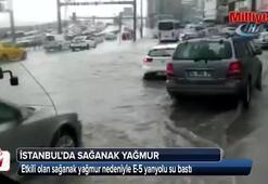 E-5 yanyolu su bastı