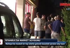 Maltepe'de maskeli hırsız market soydu