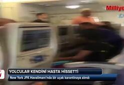 ABDde büyük panik: Uçak karantinaya alındı