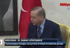 Cumhurbaşkanı Erdoğandan, Kuveyt Emirine taziye telefonu