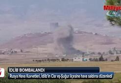 Rus savaş uçakları İdlibi vurdu