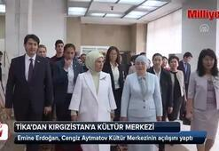 Emine Erdoğan, Cengiz Aytmatov Salonunun açılışını yaptı