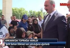 Şehit Serkan Dökmeci son yolculuğuna uğurlandı