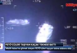 Midilli Adası'na gitmek istene FETÖcüleri taşıyan tekne alabora oldu