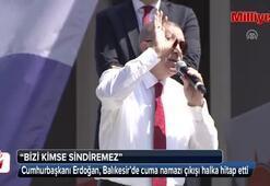 Cumhurbaşkanı Erdoğan, cuma namazı çıkışı halka hitap etti