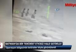 1 teröristin etkisiz hale getirildiği operasyon bölgesinde teröristler böyle görüntülendi