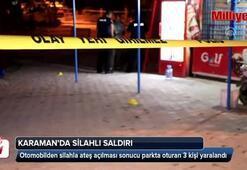 Karaman'da parkta oturanlara tüfekle ateş açıldı