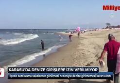 Orada denize girişler yasaklandı