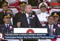 Cumhurbaşkanı Erdoğan, Harp Okulu Mezuniyet Töreninde konuştu
