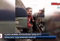 Sarhoş yolcu, uçağı patlatmakla tehdit etti