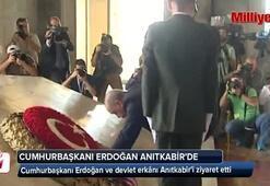 Cumhurbaşkanı Erdoğan ve devlet erkanı Anıtkabirde