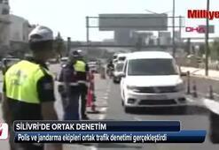 Silivride polis ve jandarmadan ortak trafik denetimi