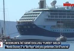 Bodruma iki gemi dolusu turist geldi