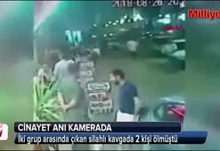 2 kişinin öldürüldüğü cinayet anı kamerada