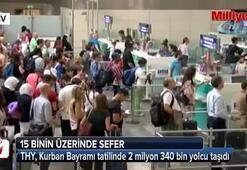 THY, Kurban Bayramı tatilinde 2 milyon 340 bin yolcu taşıdı