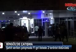 Bingöldeki çatışmada gri listede aranan terörist öldürüldü