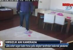 Lüks evleri soyan hırsız yakayı ele verdi