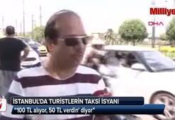 Turistlerin taksi isyanı