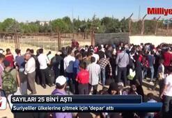 Suriyeliler ülkelerine gitmek için depar attı