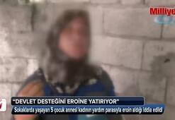 Bağımlı kadının çocuğuna verilen yardım parasıyla eroin alıyor iddiası