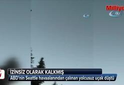 ABD'nin Seattle havaalanından çalınan yolcusuz uçak düştü