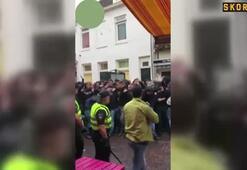 Hollanda polisinden sert müdahale