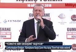 Cumhurbaşkanı Erdoğan, Gümüşhane Geçişi Çevre Yolu Açılış Töreninde konuştu