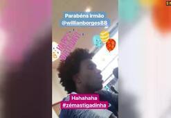 Willianın doğum gününü David Luiz duyurdu