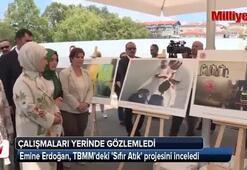 Emine Erdoğan TBMMdeki Sıfır Atık projesini inceledi