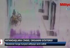 Vatandaşlara cinsel organını gösteren kargo kuryesi adliyeye sevk edildi