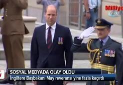 İngiltere Başbakanı May reveransı yine fazla kaçırdı