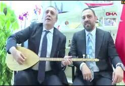 Hamza Yerlikaya ve Yavuz Bingölden Cumhurbaşkanı Erdoğana türkü